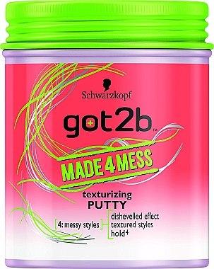 Modellierende Haarpaste - Schwarzkopf Got2b Made4Mess Texturizing Paste — Bild N1