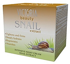Düfte, Parfümerie und Kosmetik Regenerierende, glättende und feuchtigkeitsspendende Nachtcreme mit Schneckenextrakt - Victoria Beauty Intensive Night Cream With Snail Extract