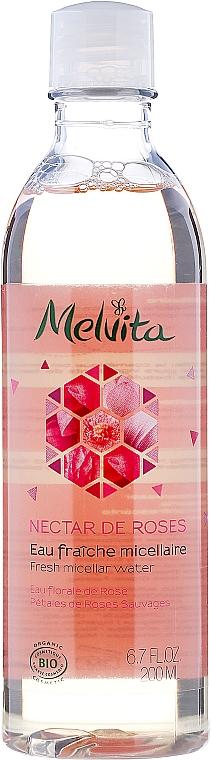 Erfrischendes Mizellenwasser mit Rosenblüten - Melvita Nectar De Rose Fresh Micellar Water — Bild N1
