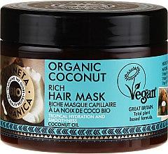 Düfte, Parfümerie und Kosmetik Feuchtigkeitsspendende Haarmaske mit Bio Kokosöl - Planeta Organica Organic Coconut Rich Hair Mask