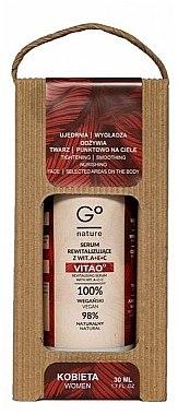 Regenerierendes Gesichtsserum mit Vitamin A, E und C - GoNature Revitalising Serum with vit. A+E+C Vitao° — Bild N1