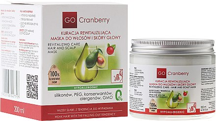 Revitalisierende Maske für Haar und Kopfhaut mit Moosbeere - GoCranberry Revitalizing Hair Mask — Bild N4
