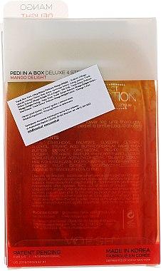 4-stufige Mango Delight Fußpflege - Voesh Deluxe Pedicure Mango Delight In A Box 4in1 (1. Meer Badesalz, 2. Zuckerpeeling, 3. Schlammmaske, 4. Massagebutter)(35g) — Bild N2
