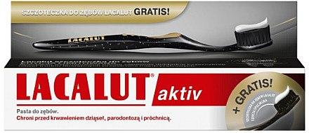 Zahnpflegeset - Lacalut Aktiv (Zahnpasta 75ml + Zahnbürste 1 St.) — Bild N1