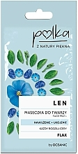 Düfte, Parfümerie und Kosmetik Feuchtigkeitsspendende Gesichtsmaske mit Lein - Polka Face Mask