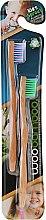 Düfte, Parfümerie und Kosmetik Bambuszahnbürste für Kinder lila, grün 2 St. - WooBamboo Kid's Toothbrush