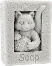 Düfte, Parfümerie und Kosmetik Handgemachte Naturseife Katze mit einer Schlaufe grau - LaQ Happy Soaps