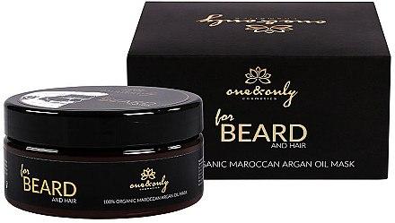 Haar- und Bartmaske mit Arganöl - One&Only Cosmetics For Beard&Hair Argan Oil Mask — Bild N1