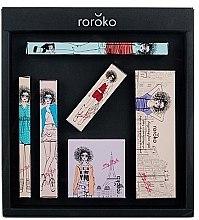 Düfte, Parfümerie und Kosmetik Make-up Set (Augenbrauenstify 0.4g + Lidschatten 8g + Eyeliner 0.8g + Rouge 6g + Mascara 8g + Lippenstift 3.5g) - Roroko Color Muse Make-up Box