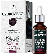 Düfte, Parfümerie und Kosmetik Anti-Falten Gesichtsserum mit schwarzer Tulpe - Uzdrovisco Black Tulip