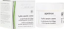 Düfte, Parfümerie und Kosmetik Feuchtigkeitsspendende Gesichtscreme für empfindliche Haut - Apeiron Hydro Sensitiv Cream 24h