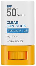 Sonnenschutz-Stick für empfindliche Bereiche SPF 30 - Holika Holika Clear Sun Stick SPF50+ — Bild N1