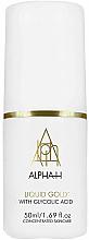 Düfte, Parfümerie und Kosmetik Aufhellendes Gesichtsserum mit Glycolsäure - Alpha-H Liquid Gold Face Firming & Brightening Serum