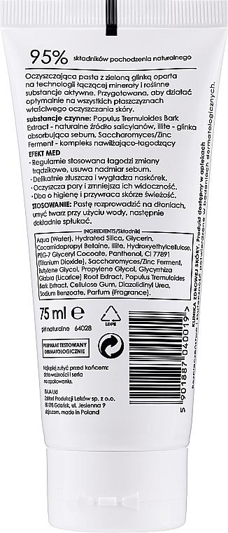 Klärende Gesichtspaste mit grüner Tonerde - Ziaja Med Antibacterial Pasta — Bild N2