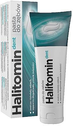 Zahnpasta gegen Mundgeruch - Aflofarm Halitomin Dent Toothpaste — Bild N1