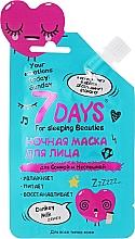 Düfte, Parfümerie und Kosmetik Gesichtsmaske für die Nacht mit Eselsmilch - 7 Days Your Emotions Today