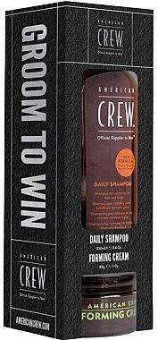 Haarpflegeset - American Crew Set (Shampoo 250ml + Haarcreme 85g) — Bild N1