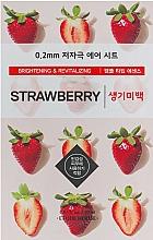 Düfte, Parfümerie und Kosmetik Aufhellende und revitalisierende Gesichtsmaske mit Erdbeerextrakt - Etude House Therapy Air Mask Strawberry