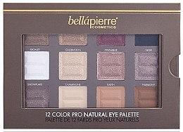 Lidschattenpalette - Bellapierre 12 Colour Pro Natural Eye Palette — Bild N2