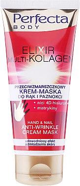 Anti-Falten Creme-Maske für Hände und Nägel - Perfecta Elixir Multi-kolagen Hand Cream Mask — Bild N1