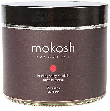 Bade- und Peelingsalz mit Blaubeeren - Mokosh Cosmetics Body Salt Scrub Cranberry — Bild N1