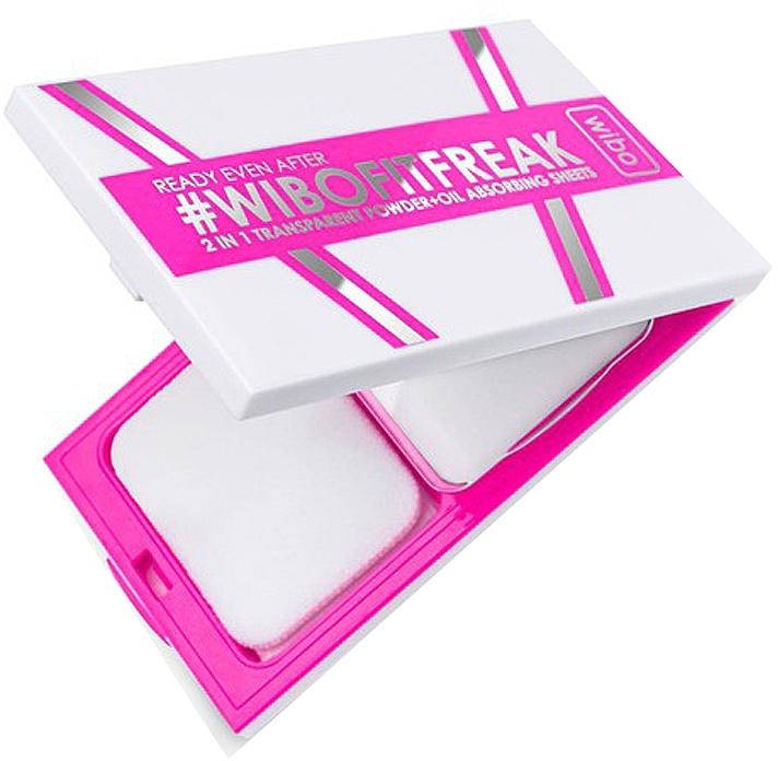 2in1 Kompaktpuder für das Gesicht - Wibo Ready Even After 2 In 1 Transparent Powder + Oil Absorbing Sheets — Bild N2