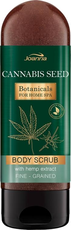 Feuchtigkeitsspendendes Körperpeeling mit Hanfextrakt - Joanna Botanicals For Home Spa Cannabis Seed Peeling — Bild N1