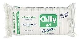 Düfte, Parfümerie und Kosmetik Erfrischende Feuchttücher für die Intimhygiene - Chilly Gel Fresh Intimate Wipes