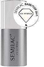 Düfte, Parfümerie und Kosmetik 2in1 Base & Top für UV Nagellacke - Semilac Base/Top 2in1