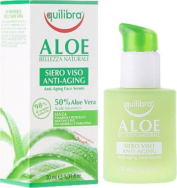 Anti-Aging Gesichtsserum mit Hyaluronsäure und Aloe Vera - Equilibra Aloe Line Serum — Bild N2