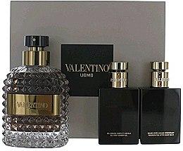 Düfte, Parfümerie und Kosmetik Valentino Valentino Uomo - Duftset (Eau de Toilette/100ml + Duschgel/50ml + After Shave Balsam/50ml)