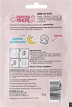 """Feuchtigkeitsspendende Tuchmaske mit Mondstein und Perle """"Einhorn"""" - Marion Funny Mask — Bild N2"""