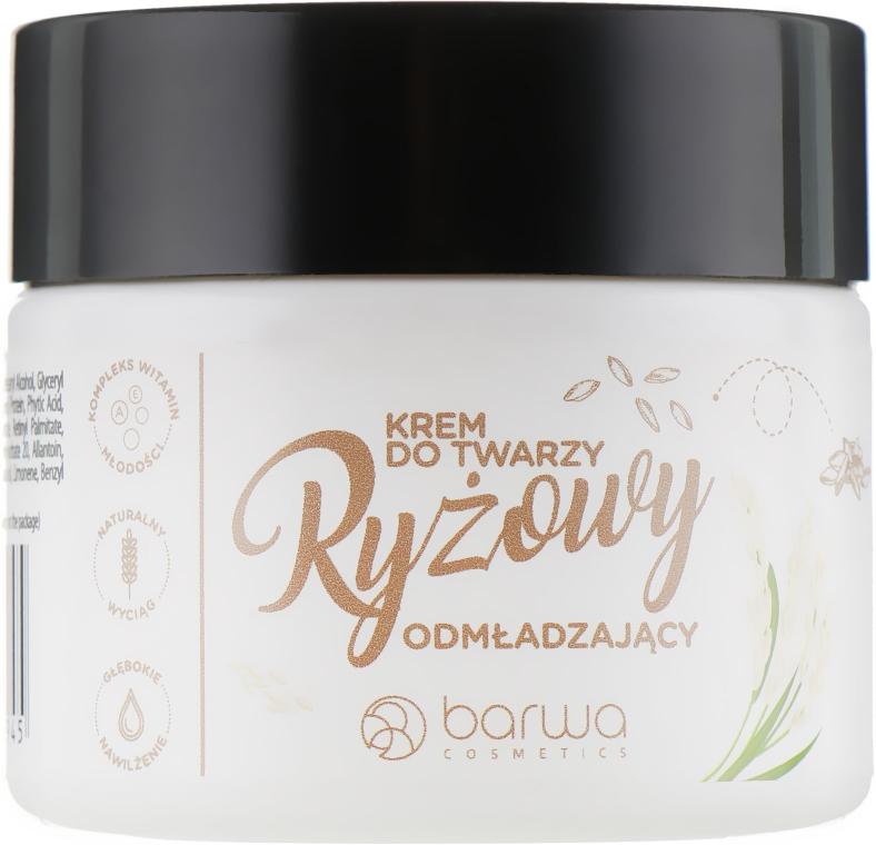 Verjüngende Reiscreme für das Gesicht mit Kokosöl - Barwa Naturalna