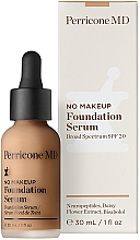 Düfte, Parfümerie und Kosmetik Foundation Serum mit glättenden Neuropeptiden, Bisabolol und Gänseblümchenextrakt LSF 20 - Perricone MD No Makeup Foundation Serum Broad Spectrum SPF 20
