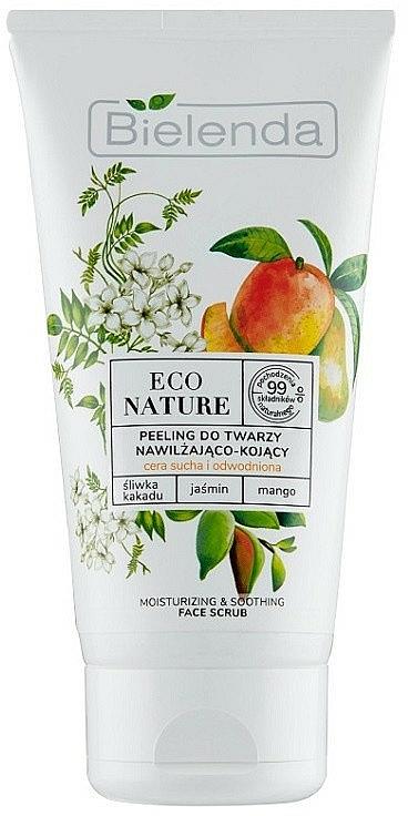 Feuchtigkeitsspendendes Gesichtspeeling mit Pflaume, Jasmin und Mango - Bielenda Eco Nature Kakadu Plum, Jasmine and Mango — Bild N1