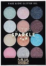 Düfte, Parfümerie und Kosmetik Glitzer-Gel-Palette für Gesicht und Augen - MUA Ultra Sparkle Palette