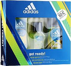 Düfte, Parfümerie und Kosmetik Adidas Get Ready for Him - Duftset (Eau de Toilette 50ml + Deospray 150ml + Duschgel 250ml)