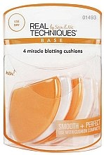 Düfte, Parfümerie und Kosmetik Make-up Cushion 4 St. - Real Techniques 4 Miracle Blotting Cushions