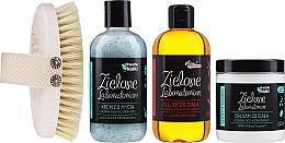 Düfte, Parfümerie und Kosmetik Körperpflegeset - Zielone Laboratorium (Massagebürste 1 St. + Duschcreme 250ml + Körperbalsam 250ml + Körper- und Haaröl 250ml)