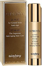 Düfte, Parfümerie und Kosmetik Anti-Aging Gesichtscreme für die Nacht - Sisley Supremya At Night The Supreme Anti-Aging Skin Care