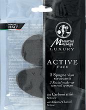 Düfte, Parfümerie und Kosmetik Make-up-Entfernungsschwämmchen mit Aktivkohle 2 St. - Martini Spa