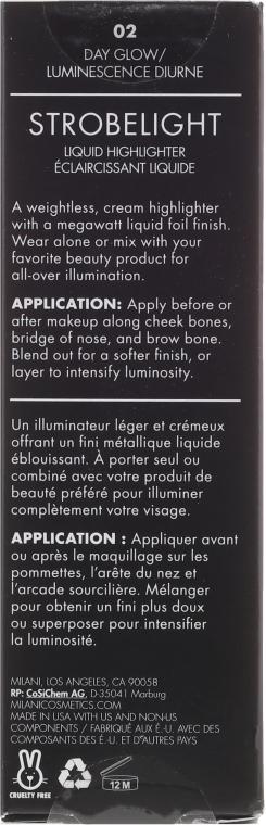 Flüssiger Highlighter für das Gesicht - Milani Strobe Light Liquid Highlighter — Bild N2