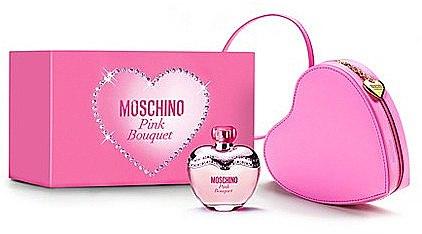 Moschino Pink Bouquet - Duftset (Eau de Toilette 100ml+rosa Herztasche) — Bild N1