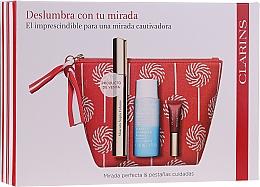 Düfte, Parfümerie und Kosmetik Make-up Set (Mascara 8ml + Make-up Entferner 30ml + Lipgloss 5ml + Kosmetiktasche 1 St.) - Clarins Mascara Supra Volume Cofre