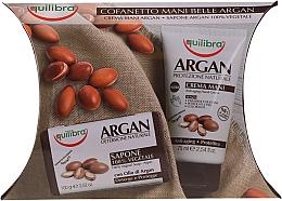 Düfte, Parfümerie und Kosmetik Körperpflegeset - Equilibra Argan (Handcreme 75ml + Seife 100g + Gesichtscreme gegen Falten (Probe) 4ml)