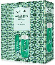 Düfte, Parfümerie und Kosmetik C-Thru Emerald Shine - Duftset (Deospray 150ml + Duschgel 250ml)
