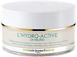 Düfte, Parfümerie und Kosmetik Feuchtigkeitsspendende Creme für trockene Haut - Methode Jeanne Piaubert L'Hydro-Active 24H 24-hour Active Moisturising Comfort Face Cream Normal to Dry Skin