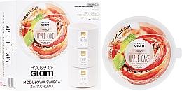 Düfte, Parfümerie und Kosmetik Soja-Duftkerze French Apple Cake - House of Glam Raw White Collection French Apple Cake Candle