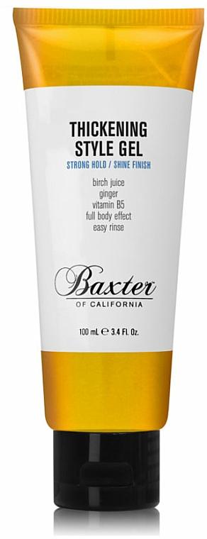 Haarstylinggel für mehr Glanz und Volumen Starker Halt - Baxter of California Thickening Style Gel — Bild N3
