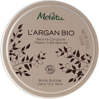 Körperbutter für sehr trockene Haut - Melvita L'Argan Bio Body Butter Very Dry Skin — Bild N1